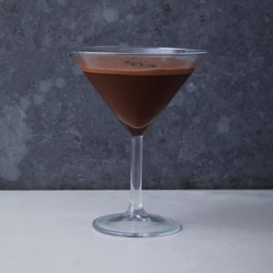 Un martini espresso de chocolate sin alcohol.