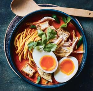Pollo de Malasia con curry laksa de Mandy Yin.