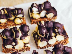 Rodajas de macadamia de chocolate