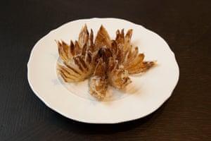 Flor de cebolla de mejora en emulsión de cebollino.
