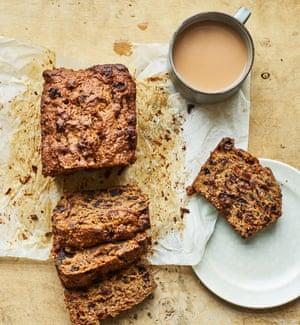 """Un pastel de frutas galesas llamado bara brith, traducido aproximadamente al galés como """"pan moteado""""."""