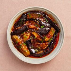 Berenjena con sabor a pescado de Sichuan.