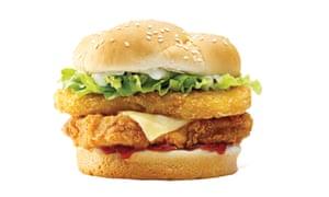 KFC Zinger Tower Burger.