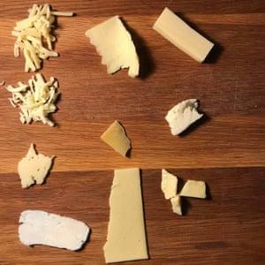 """Probamos mucho queso"", dice Felicity."