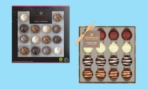 Cajas de chocolate menos de £ 10