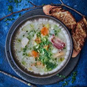 La sopa de pavo, cebada y verduras de Jeremy Lee.