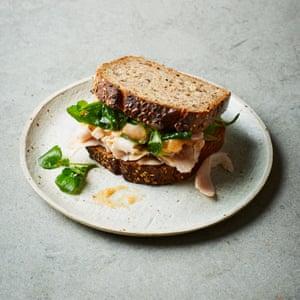 Sandwiches sobrantes de Dusty Knuckle: pavo y alioli de membrillo