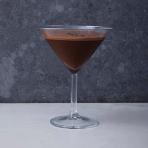 Un martini espresso de chocolate sin alcohol.