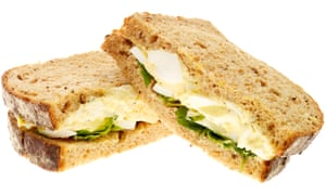 Sandwich de mayonesa de huevo