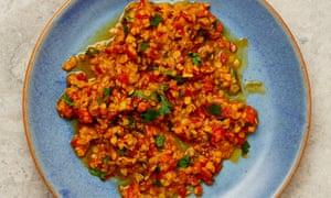Lentejas y tomates bereberes