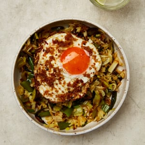 Lado soleado: arroz frito con huevos de jengibre de Yotam Ottolenghi.