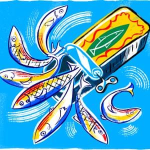 Receta de sardina enlatada de Rosie Sykes.