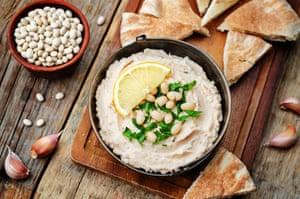 Versión de frijol blanco de hummus