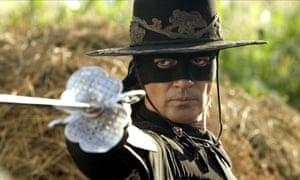 Antonio Banderas en La leyenda del Zorro.