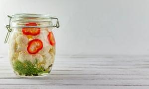 Coliflor fermentada y verduras