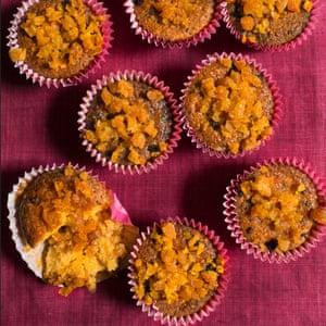 Tortas de polenta, marsala y albaricoque de Nigel Slater. Octubre 2018 Observar Alimentos Mensualmente OFM
