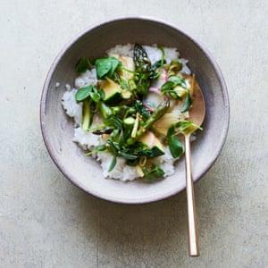 Arroz Ankake con verduras de primavera