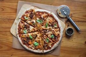 Pizza de masa madre de Bryony