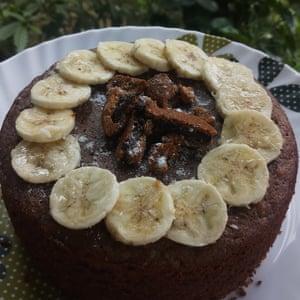 Pastel de plátano y sudarshana