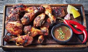 Pollo a la parrilla.