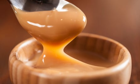 Dulce de leche, un dulce a base de leche, hecho en Brasil y Argentina.