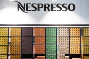 Una tienda Nespresso en Suiza en febrero de 2020.