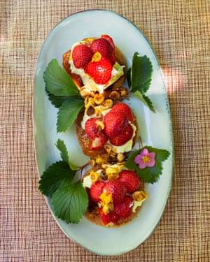 Crema de la cosecha: shortbread de fresa y avellana.