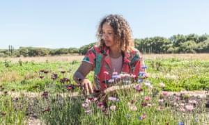 Sinead Fenton, ecológico & amp; Granjero regenerativo en Aweside Farm en Arlington, East Sussex