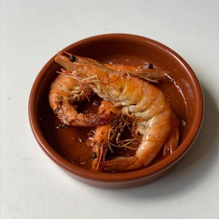 Regresa a mí, Clive: mucho jerez seco en Garlic Shrimp de Keith Floyd.