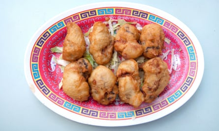 Ostras fritas de Wong Kei.