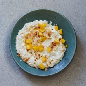 Pudin de arroz con coco y mango de Marcus Samuelsson