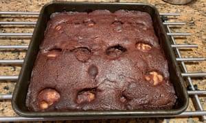 Pudín de chocolate y pera Nigella Lawson