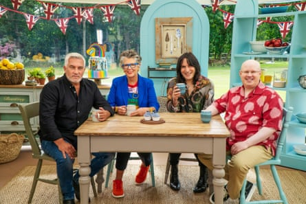 Paul Hollywood, Matt Lucas, Prue Leith y Noel Fielding en Bake Off.