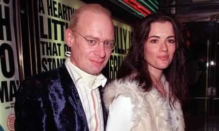 Nigella Lawson con su difunto esposo John Diamond en 2000.