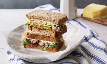 Sándwich de cangrejo de Calum y Tracey Greenhalgh.