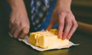 Mantequilla de corte de cuchillo de mano