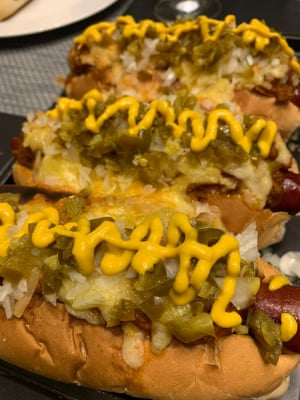 Meatliqour hot dog en casa - hecho por Grace