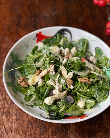"""Waldorf de Jamie Oliver: """"mostaza, perejil moteado, enriquecido con yogur ..."""""""