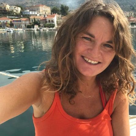 Susan Smillie en Grecia.
