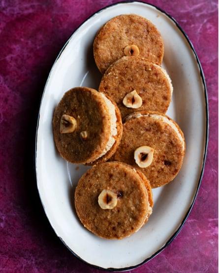 Locos sobre ellos: galletas de crema de avellana.