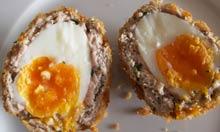 Receta de huevo escocés de Tom Norringon Davies