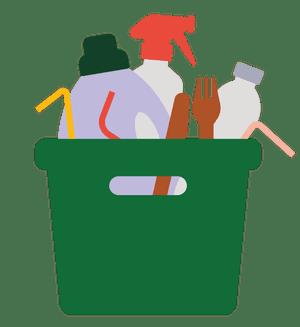 Ilustración del tanque de productos de limpieza.