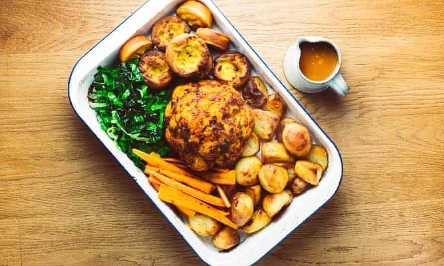 Asado vegano del domingo de Lowly Food.