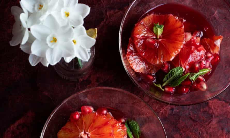 Naranja sanguina, granada y azahar