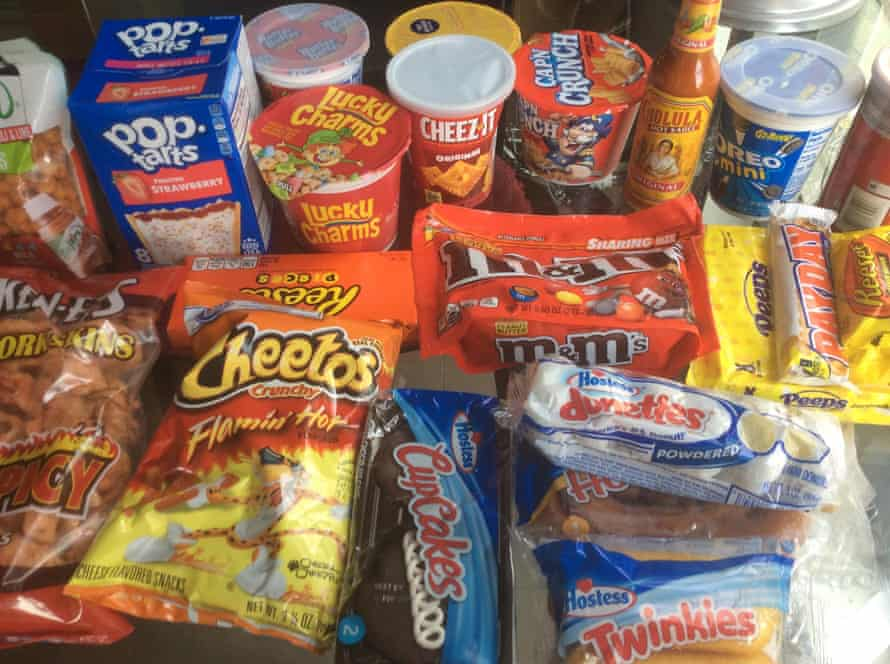 Flamin 'Hot Cheetos, Sweet Cereal and Hostess Cakes de EE. UU.