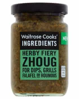 Los ingredientes de Waitrose Cooks zhoug.