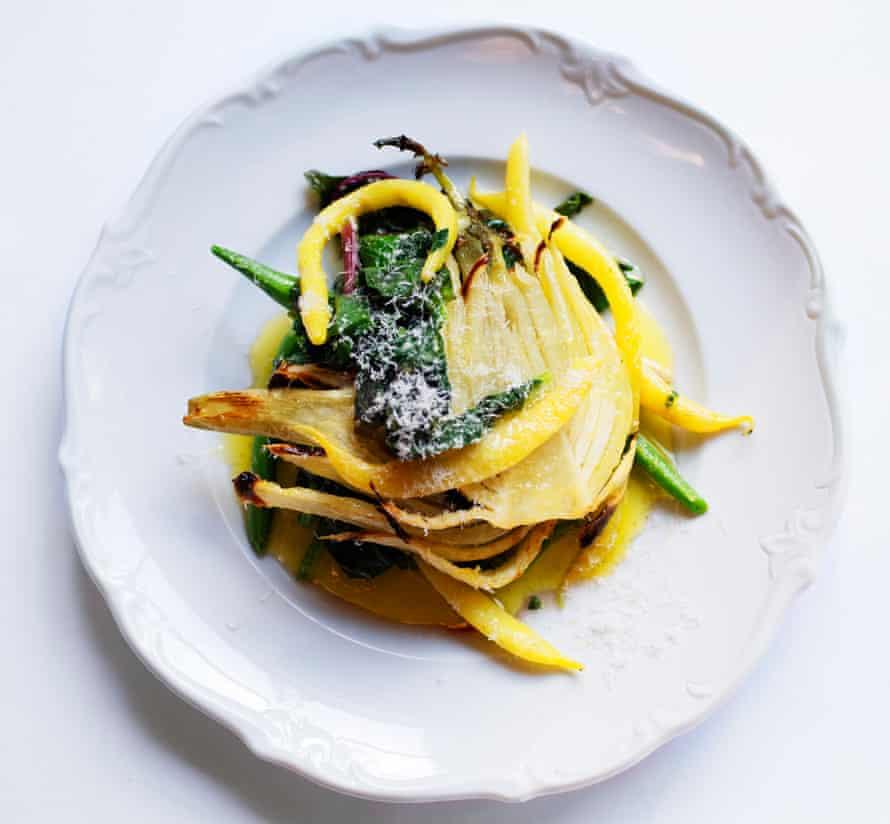 Espinaca, Hinojo y Parmesano de Nigel Slater.