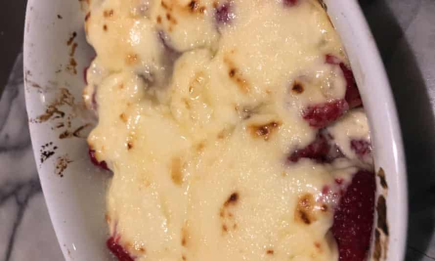 Punto dulce: frambuesas y mascarpone.
