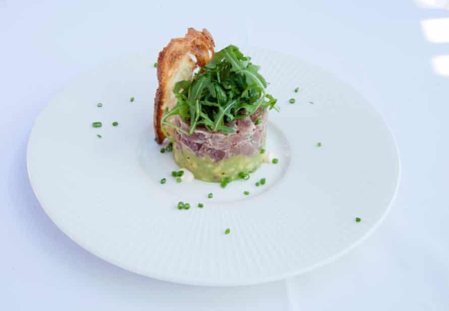 The Tuna Avocado Tartar, Alto en Selfridges, Londres.