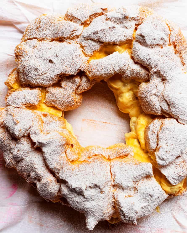 Círculo mágico: bocanadas con crema de plátano.